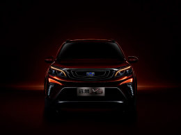 吉利全新小型SUV预告图 正式定名远景X3