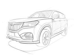 华晨中华V6手绘图发布 定位紧凑型SUV