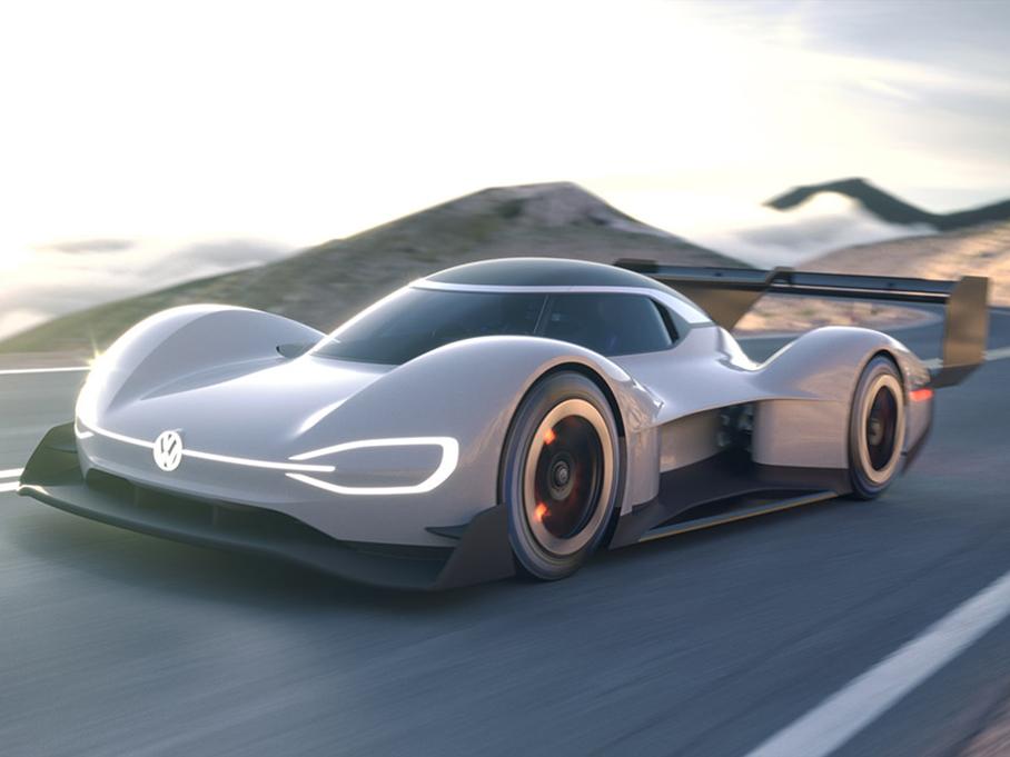 挑战派克峰 大众首款电动赛车完成首试